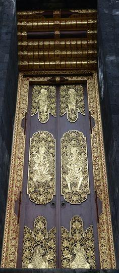 Besakih Temple  - the mother temple for Balinese Hindus - on the slopes of Gunung Agung. #Bali #doors #pintu