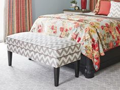 Good example of pattern mixing: floral and Chevron #hgtvmagazine http://www.hgtv.com/bedrooms/a-mothers-day-bedroom-makeover/pictures/page-6.html?soc=pinterest
