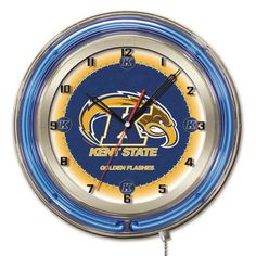 Kent State Golden Flashes Large Logo Neon Clock