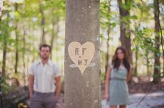 heart on tree - wedding idea