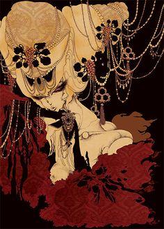 aya kato - The 12 Dancing Princesses 2004  cheval noir
