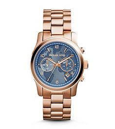 Michael Kors Watches: Watch Hunger Stop Runway Rose Gold-Tone Watch Michael Kors 2014, Michael Kors Stores, Michael Kors Watch, Dream Watches, Cool Watches, Stainless Steel Watch, Other Accessories, Gold Watch, Rose Gold