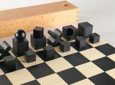 Bauhaus Movement Magazine - Bauhaus chess set by Josef Hartwig