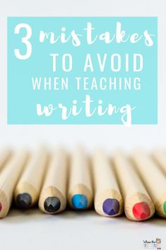 Teaching writing can be challenging, so I'm sharing 3 mistakes I've made so that you can learn from them! These tips will help you make your writer's workshop more effective for your kindergarten, first grade, or even second grade students!