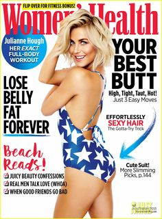 Julianne Hough shows off her pert bottom in sexy swimwear shoot Julianne Hough Boyfriend, Julianne Hough Hot, Julienne Hough, The Skinny Confidential, Womens Health Magazine, 1 Real, Body Shaming, Beach Hair, Dancing With The Stars