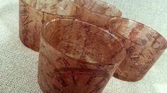 GOTS LES HORES  Vaso CHIQUITO personalizado con decoupage y acabado barniz protector. (4 uds.)