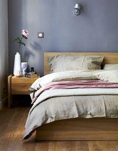 Výsledek obrázku pro sleeping room wooden bed colours