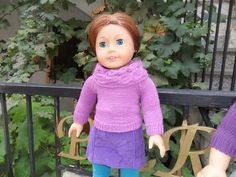 Ravelry: American Girl Doll School Sweater pattern by Patricia Renwick