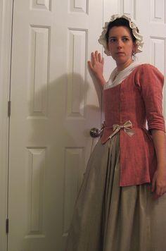 New clothes! 18th Century Dress, 18th Century Costume, 18th Century Clothing, 18th Century Fashion, 19th Century, Historical Costume, Historical Clothing, 1700s Dresses, Linen Dresses