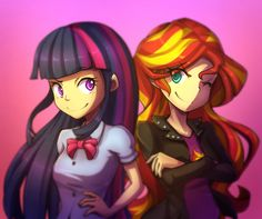 Recently my sister likes to watch MLP Equestria Girls movie. When I see it too, I actually like the character design (the human one though, not the pony one ). So here you go, Twilight Sparkle and . Mlp, Fluttershy, Goth Disney Princesses, Lgbt, Adventure Time Finn, My Little Pony Pictures, Cartoon Network Adventure Time, Equestria Girls, Powerpuff Girls