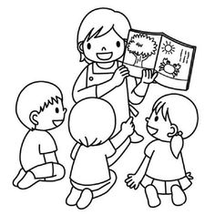 Kindergarden teachers coloring pages Art Drawings For Kids, Drawing For Kids, Easy Drawings, School Coloring Pages, Colouring Pages, Coloring Books, Free Adult Coloring, Coloring Sheets For Kids, Preschool Colors
