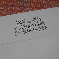 Hand lettering for letters