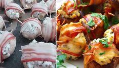 Recept Houbové bombičky obalené ve slanině Ricotta, Mashed Potatoes, Cheesecake, Food And Drink, Eggs, Treats, Chicken, Breakfast, Ethnic Recipes