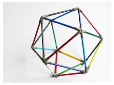 These are out of pencils, but could make them for tinker toys    colour icosahedron
