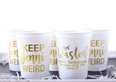 Bachelorette Party Favor, Custom Party Cups, Bridal Party, Plastic Stadium Cup, Personalized Cups, Bar Crawl, Birthday Party Cups by MailboxHappiness on Etsy https://www.etsy.com/listing/500289863/bachelorette-party-favor-custom-party