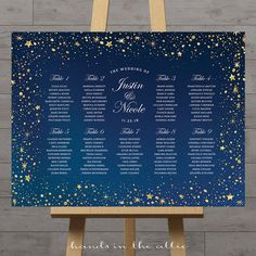 Stars wedding seating chart celestial night silver gold stars guest table plan wedding printable board night sky table assignment DIGITAL by HandsInTheAttic Seating Plan Wedding, Wedding Table, Wedding Day, Seating Plans, Space Wedding, Budget Wedding, Gold Wedding, Diy Wedding, Wedding Favors