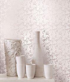 papel de parede sala arabesco - Pesquisa Google Glitter Wallpaper, Meditation Space, Room Goals, Beauty Bar, Diy Furniture, Sweet Home, Living Room, Interior Design, Bedroom