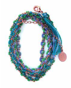 The Copper Montauk Ombre Wrap Bracelet by JewelMint.com, $108.00