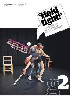Guardian g2 cover: Edinburgh Festival special #editorialdesign #newspaperdesign #graphicdesign #design #theguardian