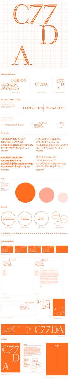core77 design awards identity.  design credit, studio lin.