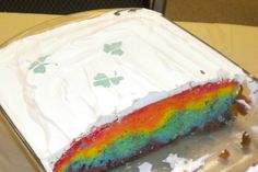 St. Patrick's Day rainbow cake-made this last year and everyone loved it!