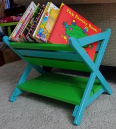 Sweet Little Book Caddy. Free Plans at Ana-White.com
