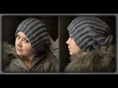 Теплая зимняя шапка ( вязание крючком для начинающих). Warm winter hat (Crocheting for beginners) - YouTube