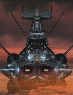 EDF 'ANDROMEDA' SBB-58.  A Heavy Space-Battleship with TWIN-WAVE-MOTION-CANONS.