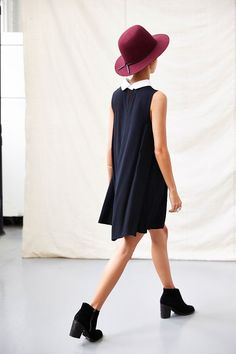 One & Only X Urban Renewal Collared Swing Dress - Urban Outfitters