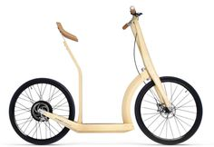 Stylish T20 bamboo scooter hides its electric side