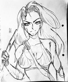 Anime style Warrior Sketch by LawWidmann Anime Style, Sketches, Deviantart, Image, Drawings, Doodles, Sketch, Tekenen, Sketching