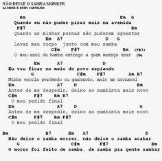 MEU CAVAQUINHO: Cifra - Não deixe o samba morrer/Sufoco - Alcione ...