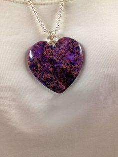 Sea Jasper necklace Sea jasper heart necklace  by UniquelyArdath, $24.99
