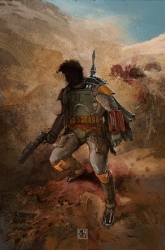 Fett and the Sarlaac by CarlosNCT on deviantART