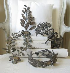 Acquired Objects: New Obsession....vintage Laurel Wreath Awards