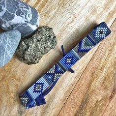 Perfect like your favorite pair of blue jeans— this bead loomed beauty is effortlessly cool. This is a fully adjustable, vegan, loom beaded bracelet made with the finest materials available. I weave each piece by hand with my little loom in Cumbria, England. This Ash & Loom original