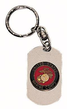 Rothco Marines Dog Tag Key Chain | AmerWear.com