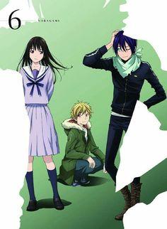 Noragami main cast, Yato, Hiyori and Yukine