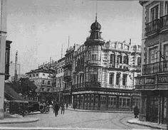 Sevilla.Plaza de la Campana, año 1920.