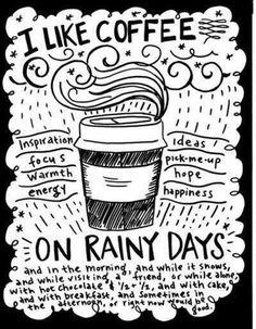 Días de lluvia... tardes de café!!! ☕️☔️ 27/06/16
