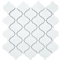 $6.95 Merola Tile Lantern Matte White 12-1/2 in. x 12-1/2 in. Porcelain Mosaic Floor and Wall Tile (11 sq. ft. /case)-FKOLB140 at The Home Depot