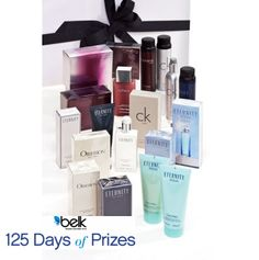 A scent for every season! Enter now for your chance to win a CK Men and Women's fragrance wardrobe. #belk125