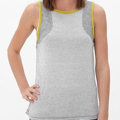 BKE Tank Top NWT Grey patterned, tank top by BKE. New With tags. Slight high-low hem. Size Medium. Stretchy material  BKE Tops Tank Tops