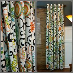 Shower Curtain Designer Shower Curtain Long by TheHandmadeHamper