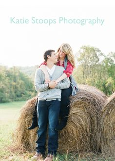 Rustic Engagement Photo