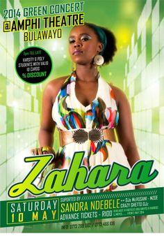Zahara Live – 2014 Green Concert@Amphi Theatre, Bulawayo, Zimbabwe, 10 May 2014 EventUpdater