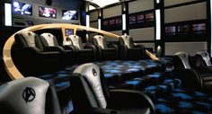 STAR TREK Home Theater - Repinned by Surviving #Mesothelioma http://www.survivingmesothelioma.com