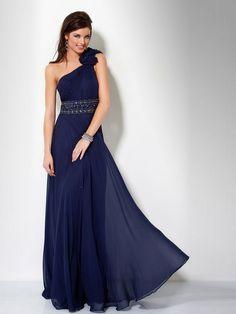 winter Bridesmaid Dresses | ... Floral One-Shoulder Neckline Sleeveless Floor-Length Bridesmaids Dress