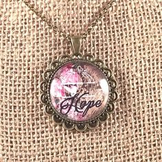 A personal favorite from my Etsy shop https://www.etsy.com/listing/266609303/christian-necklace-faith-necklace-hope