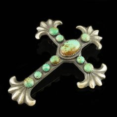 I like the sand casting with turquoise applied, this is better than most classy Image result for turquoise cross